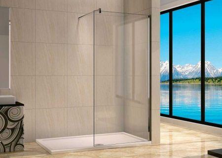 Ограждение в душ из закаленного стекла